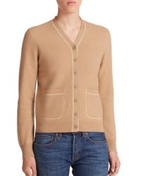 Marc By Marc Jacobs | Natural Superfelt Wool V-neck Cardigan | Lyst