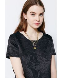 Urban Outfitters - Metallic Triple Layer Half Moon Necklace - Lyst