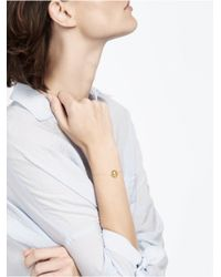 BaubleBar | Metallic Disc Bracelet - Monogram | Lyst