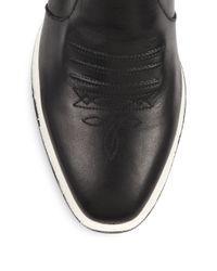 Rag & Bone - Black Steele Leather Ankle Boots - Lyst