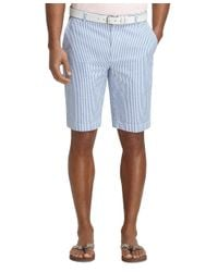 "Brooks Brothers | Blue 11"" Seersucker Bermuda Shorts for Men 