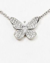 Nadri - Metallic Pave Butterfly Necklace 15 - Lyst