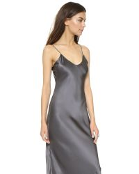 Nili Lotan - Gray Maxi Cami Dress - Lyst