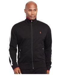 Polo Ralph Lauren - Black Big And Tall Full-zip Interlock Track Jacket for Men - Lyst