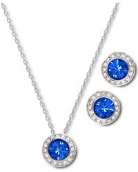 Swarovski | Blue Angelic Sapphire Earrings And Pendant Set | Lyst
