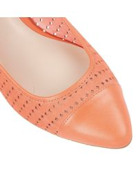 Lotus - Orange Diamond Flat Shoes - Lyst