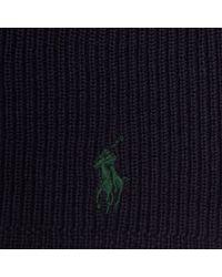 4d41d5177 Polo Ralph Lauren Merino Wool Skull Cap in Blue for Men - Lyst