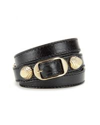 Balenciaga | Metallic Giant Leather Bracelet | Lyst