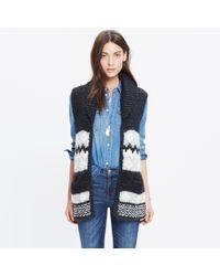 Madewell - Black Handknit Fair Isle Sweater-vest - Lyst