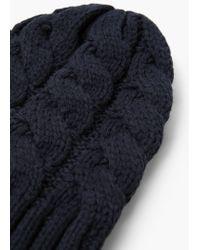 Mango - Blue Knit Beanie for Men - Lyst