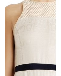 Charlotte Ronson - Natural Silk Fishnet Dress - Lyst