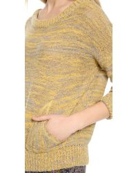 Free People - Natural Falling Star Pullover - Lyst