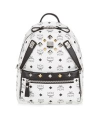 MCM | White Small Dual Stark Backpack | Lyst