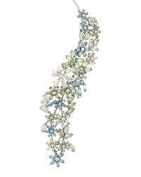 BCBGMAXAZRIA - Multicolor Stone Floral Necklace - Lyst