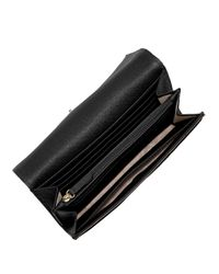 MICHAEL Michael Kors | Black Fulton Leather Carryall Wallet | Lyst