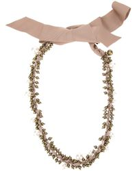 Lanvin - Pink Beaded Necklace - Lyst
