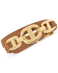 Michael Kors   Metallic Gold-Tone Maritime Leather Bracelet   Lyst