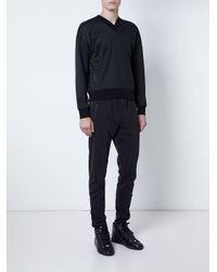 Versus - Black V-neck Sweatshirt for Men - Lyst