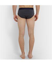 Sunspel - Blue Striped Cotton Briefs for Men - Lyst