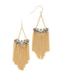 Alexis Bittar | Metallic Fringed Marquis Earrings - Silver/gold | Lyst