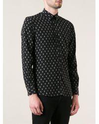 Saint Laurent - Black Printed Shirt for Men - Lyst