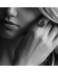 David Yurman - Metallic Wheaton Ring With Diamonds - Lyst