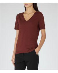 Reiss - Red 1971 Lautrex V-neck T-shirt - Lyst