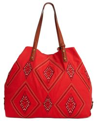Lucky Brand   Red Serena Tote   Lyst