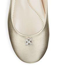 Caparros | Windfall Metallic Ballet Flats | Lyst