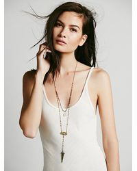 Free People | Metallic Womens Double Layer Rosary | Lyst
