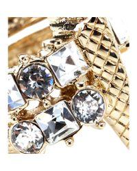 Roberto Cavalli | Metallic Swarovski Crystal Embellished Ring | Lyst