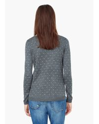 Mango | Gray Polka-dot Pattern Sweater | Lyst