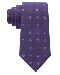 DKNY | Purple Silk-blend Floral Embroidered Tie for Men | Lyst
