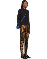 3.1 Phillip Lim - Blue Navy Open_Knit Sweater - Lyst