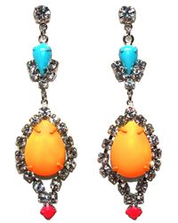 Tom Binns | Multicolor 'riri' Teardrop Earrings | Lyst