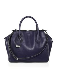 Rebecca Minkoff | Blue Perry Textured-Leather Satchel | Lyst