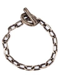 Henson | Metallic Distressed Chain Bracelet | Lyst