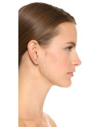 Alexis Bittar | Metallic Encrusted Hoop Earrings - Gold Multi | Lyst