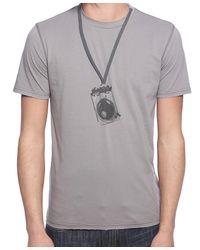 Forever 21 - Gray Camera Print Tee for Men - Lyst