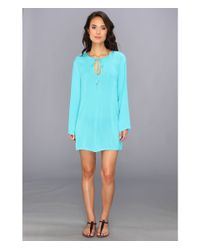 Athena - Blue Heavenly Tunic Coverup - Lyst