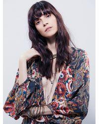 Free People | Black High Plains Printed Dress | Lyst