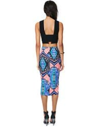 Nasty Gal - Multicolor Scope Out Midi Skirt - Lyst