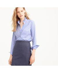 J.Crew | Blue Tall Favorite Shirt In Stripe | Lyst
