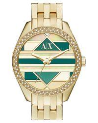 Armani Exchange - Metallic 'smart - Mosaic' Bracelet Watch - Lyst