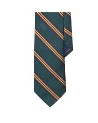 Polo Ralph Lauren | Green Striped Silk Repp Tie for Men | Lyst