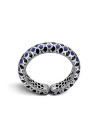John Hardy - Blue Legends Naga Scale Cuff - Lyst