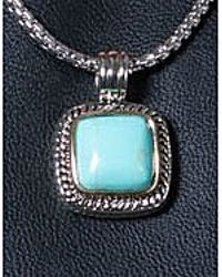 Bungalow 20 - Blue Cable Framed Square Turquoise Pendant - Lyst