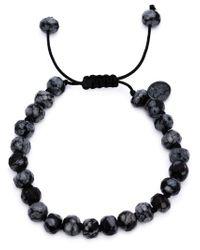 Joseph Brooks | Black Obsidian Beaded Bracelet for Men | Lyst