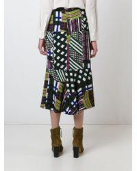Marni | Black Mix Print Skirt | Lyst