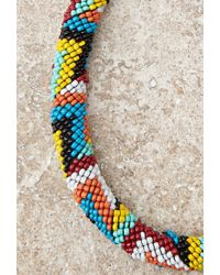 Forever 21 | Multicolor Beaded Rope Collar Necklace | Lyst